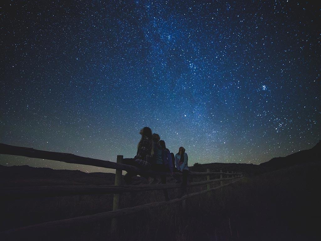 Il cielo di Maremma in un'atmosfera magica